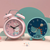 Girl heart Japanese mute small alarm clock cartoon childrens students simple dormitory girls cute bedroom luminous