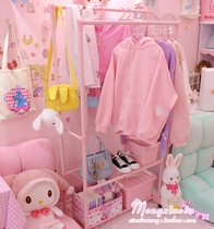 Dedicated student shelf lolita hanger floor Princess hanging clothes cute shaking childrens economy large