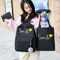 Vintage sense girl bag female Korean version of primary and secondary school students shoulder bag campus small fresh high school students backpack