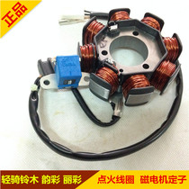 Applicable Suzuki Li Cai QS125T-2 Yun Cai qs100t bobine magnetic motor stator ignition coil magnet