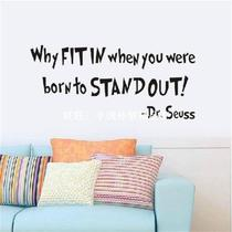 Word Quote DR SEUSS Wall Mural Sticker Vinyl Decal Home Sofa
