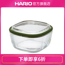 (Flagship Store) HARIO heat-resistant glass preservation box cuisine glass bowl square microwave lunch box CWK.