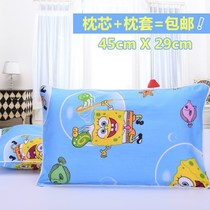 Baby summer childrens pillow 5-10 years old boy cool pillow Four Seasons 3 years old 5-6-7 years old baby children washing boys small