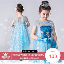 Frozen princess dress Aisha girls dress Aisha summer childrens fashion elsa Aisha skirt 2019