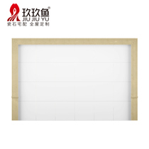 Nine fish marble lines TV background wall border stone door package side waist line column small square column