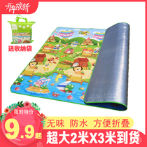 Waterproof outdoor moisture mat thick cartoon picnic mats folding picnic spring mats ins wind