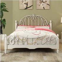 Wrought iron bed princess bed 1 5 M 1 8 m single iron bed apartment Korean style 1 2 white iron bed simple