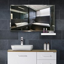 European-style bathroom mirror 40 * 60 cm bathroom mirror wall frameless wall paste free punch makeup bathroom