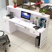 Simple front desk cashier reception bar clothing beauty mobile phone repair desk pharmacy hotel right angle counter table