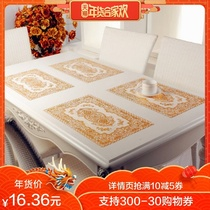 Bamboo Moon Pavilion PVC bronzing placemat isolant mat table mat Western food bol Cup Mat 2 pack
