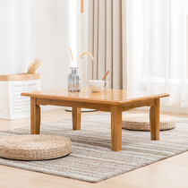Bamboo Kang table a few bed on the small table modern minimalist bay window table tatami table solid wood table low table coffee table