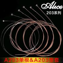 Guitar Strings Alice 203 Strings 6 Set Folk Wood Guitar One String Set Wire String Instrument Accessories.