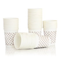 Deli paper cup 9569 thickened safe non-toxic tasteless disposable paper cups high temperature 180ml Large 50 bags
