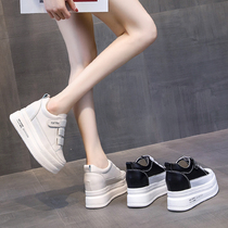 Increased white shoes women 2019 summer new casual wild autumn thick bottom sponge shoes ins tide shoes explosion models