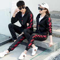 Couple installed autumn couple version of the package loose sweet 2019 new wild Korean version of the trend of autumn one man and one woman