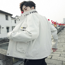 Jacket Mens clothing 2019 net red spring and autumn jacket Korean version of the trend of casual Wild Boys jacket youth American