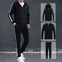 Sports sweater suit male spring and autumn trend three-piece 2019 new Korean version of the Wei pants youth hooded leisure