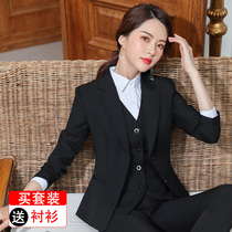 Professional Suit Suit female autumn and Winter new temperament ladies suit suit female dress college students interview Work Clothes