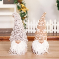 Christmas decorations old people gift Santa doll Christmas gift props.