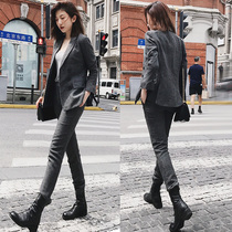 2019 autumn and Winter new British occupation wear temperament goddess fan small suit jacket female suit Korean casual fashion