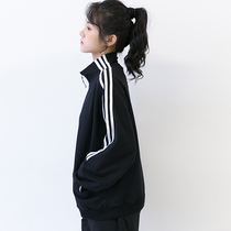 Zi suo 2019 new autumn Hong Kong wind school season black jacket female spring and autumn loose hip-hop BF wind baseball tide