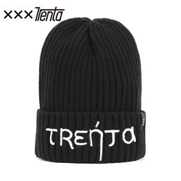 XXXTRENTA black knitted hat boys ladies winter fashion thickening couple personality ins