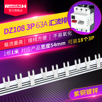 DZ108 motor protector 63A motor circuit breaker plastic shell open copper convection row RDM pitch 54mm