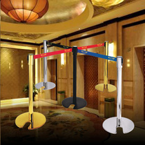 Hotel Isolation zone railing seat thickening iron paint one rice bar telescopic belt stainless steel Active fence