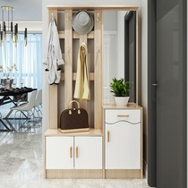 Hall cabinet cabinet coat cabinet hanger shoe cabinet shoe rack one combination with mirror change shoe stool into the door secret door cut off cabinet