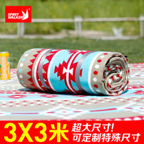 Outdoor tent moistureproof picnic mat multi-person camping camping mat 3X3 m plus thickening machine washable