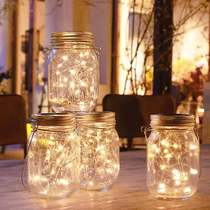 American Solar Mason bottle star lights firefly lights small lantern string lights romantic room decoration bedroom hanging lights