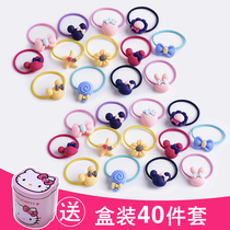 Children tie hair rubber band does not hurt the hair head rope headdress girls hair accessories rubber band Princess baby small hair circle hairpin