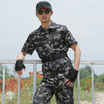 Shield lang short sleeve black eagle camouflage suit mens Summer Outdoor for training uniforms overalls breathable wear tactical uniforms