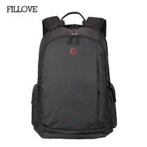 Fillove computer backpack Shoulder bag male large capacity bag black travel bag female casual fashion travel backpack