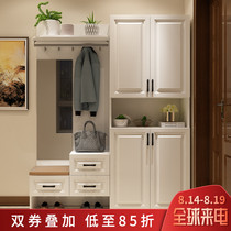 Shoe cabinet simple modern hall cabinet multi-function door entrance cabinet partition cabinet living room clothes hat cabinet locker