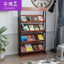 Wine rack display shelf book shelf magazine shelf book shelf newspaper shelf red shelf floor shelf display rack