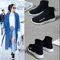 Stretch Socks shoes women 2018 Summer New high-help sneakers female Korean version ulzzang ugly shoes