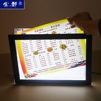 Bindu magnetic Crystal Light Box desktop LED ordering milk tea price list acrylic light box Billboard