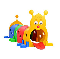 Kindergarten Large toy children indoor caterpillar crawling toys dazzling diamond hole Elf tunnel factory price