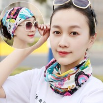 Scarf Wind Wind Sand Magic female multi-function collar sets of sunscreen collar sets of hats outdoor variety summer riding sets