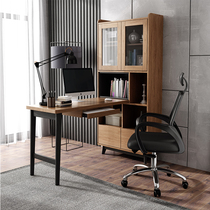 Nordic solid wood desk computer desk corner desktop home simple home student writing bookcase desk one