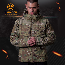 Autumn and winter Red Flame instructor Tactical Jacket male camouflage outdoor waterproof windbreaker with velvet M65 military fans field charge clothes