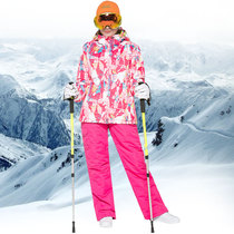 Ski suit ski pants suit Korea double plate snow pants women winter outdoor thick waterproof warm