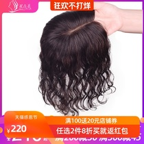 Head hair replacement sheet cover gray hair lady invisible Incognito bangs wig piece delivery needle wig block in long curly hair