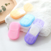 Collar Travel Soap Paper soap paper portable outdoor sanitary cleaning soap slices hand washing tablets mini a box