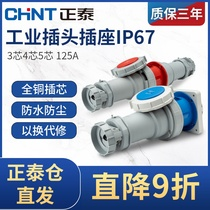 Zhengtai aviation plug IP67 industrial socket 3 4 5 core 125a male and female docking connector waterproof 380V