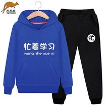 Boy in the Big children's sweater children's spring and autumn 2019 new 10 Korean version of the tide 12 ocean 13 Sports suit 15 years old