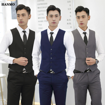 Groomsmen clothing male vest shirt trousers three-piece suit spring and autumn slim vest wedding groom Brothers Group dress