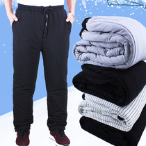 Cotton trousers male Winter thickening loose the elderly wear the old man cotton trousers male 60-70-80 year old loose elastic waist