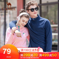 Camel outdoor fleece mens autumn and winter warm loose charge jacket double-sided thick fleece jacket female